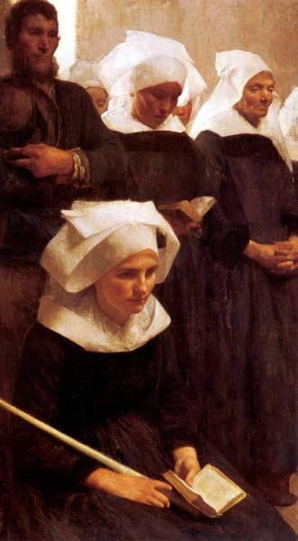 Dagnan Bouveret Bretons Praying 1888